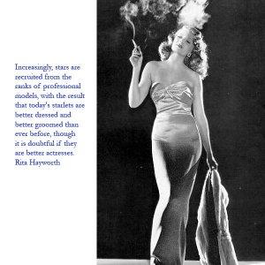 Rita Hayworth model stars
