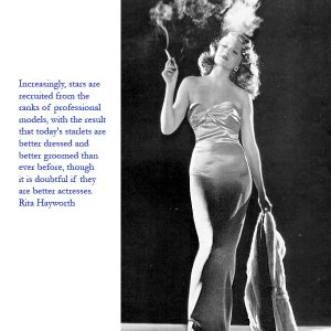 Rita Hayworth model stars