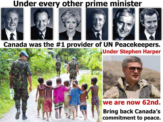 Image result for Canada peacekeeper meme