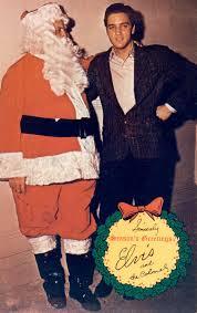Elvis and Col Santa