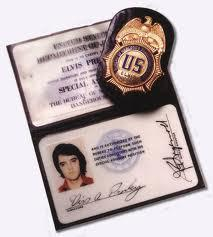 Elvis DEA Badge