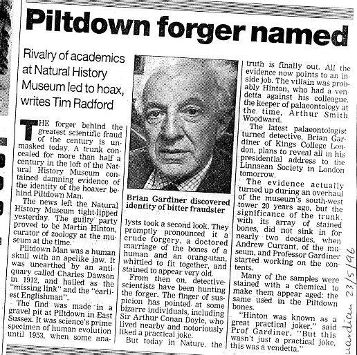 Piltdown Man Hoax Years Ago - HISTORY