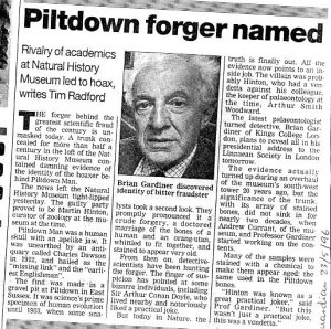 Piltdown Forger Martin Hinton