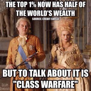 the one percent own half