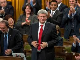 Harper smiles as Canada War
