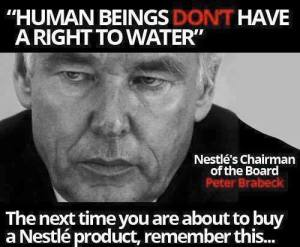Nestle CEO water right quote