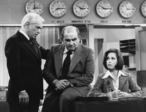 "The lesson learned from ""The Mary Tyler Moore Show,"" with characters (from left) Ted Baxter (Ted Knight), Lou Grant (Ed Asner) and Mary Richards (Mary Tyler Moore), is that women can and do succeed in business."