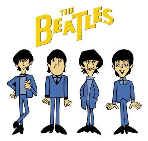 Cartoon beatles