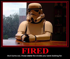 Fired for looking