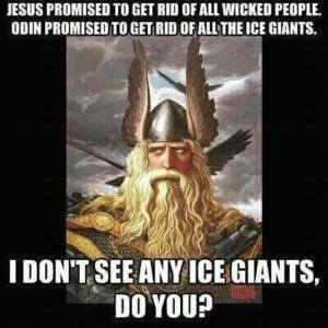 Odin no ice giants meme