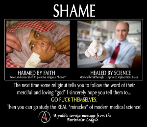 Shame Religion not women