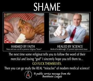 Shame Religion not women