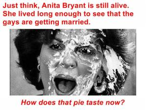 Anita Bryant Pie Face