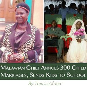 NO CHILD LEFT A BRIDE: Congratulations to Chief Kachindamoto for her decisive action against child marriage and in favor of education! To read more about her decision on This Is Africa, visit http://bit.ly/1KvfSSG
