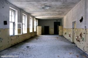 Abandoned school hallways: eerie silence.