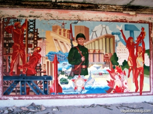 Propaganda art celebrating socialist achievements. (Photo: K. S.)