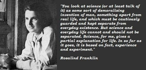rosalind franklin essay length Rosalind franklin (1920-1958) rosalind elsie franklin was born in london, england her family was well-to-do and both sides were very involved in social and public works.