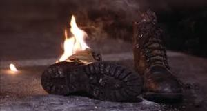 boots burning