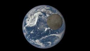 Earth and Moon's dark side