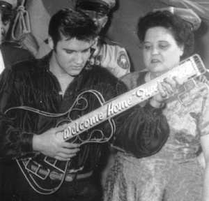 Elvis and Gladys at Tupelo