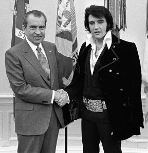 5364-18:  President Nixon shakes hands with entertainer Elvis Presley in the Oval Office