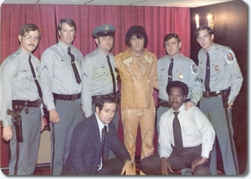 Image result for elvis presley - with 1970s police