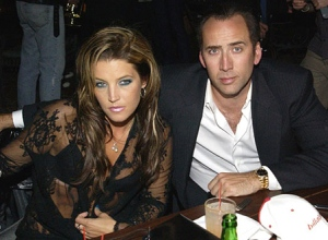 Lisa Marie Presley and Nicolas Cage MTV After Party at the Hudson Hotel Hudson Hotel New York City, New York USA September 7, 2001 Photo by Larry Busacca/WireImage.com To license this image (233446), contact WireImage: U.S. +1-212-686-8900 / U.K. +44-207 659 2815 / Australia +61-2-8262-9222 / Japan: +81-3-5464-7020 +1 212-686-8901 (fax) info@wireimage.com (e-mail) www.wireimage.com (web site)