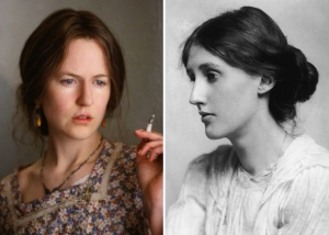 Nicole Kidman as Virginia Woolf.
