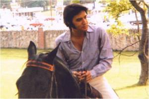 elvis on horseback