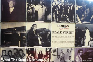 Memphis: Home of the Blues, Birthplace of Rock 'n' Roll A collection of images showing artists who have performed on the famous Beale Street in Memphis. This can be found in the Visitor Centre on the riverfront in Memphis.