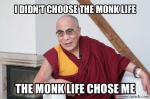 dali lama monk life