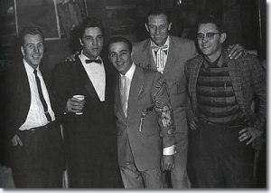 elvis_backstage_opry_dec_22_1957 Ferlin Husky, Elvis, Farron Young and Hawkshaw Hawkins