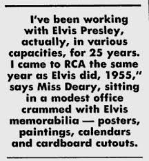 Joan Deary on Elvis