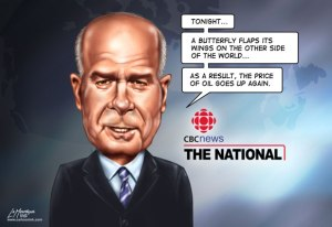Peter Mansbridge CBC News Oil Price Butterfly