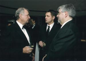 Days: numbered. With Liberal Prime Minister Paul Martin at the same Press Gallery dinner in 2005. That's CHUM TV President and CEO Jay Switzer on the right.