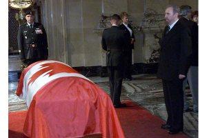 Castro at PE Trudeau Funeral