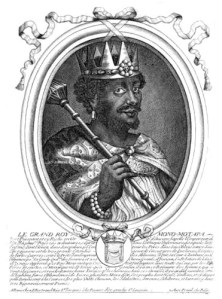 Print by Nicolas de Larmessin depicting the King of Mwene Mutapa
