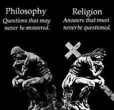 philosophy v religion