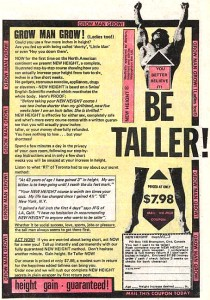 be-taller-comic-book-ad