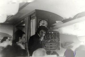 Elvis Mingling on Plane -- Nixon Visit