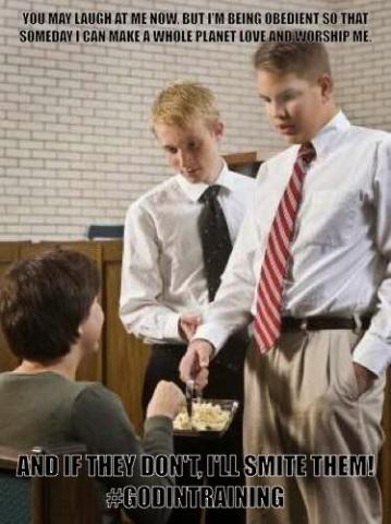God Training Sacrement Mormon Meme