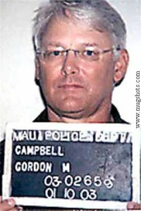 B.C. Premier Gordon Campbell is shown in these police booking handout photos from Maui police on Friday Jan. 10, 2003. Campbell is facing an impaired driving charge in Hawaii. (CP PHOTO/Maui Police-HO)