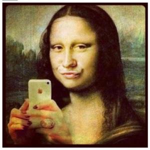 mona lisa selfia