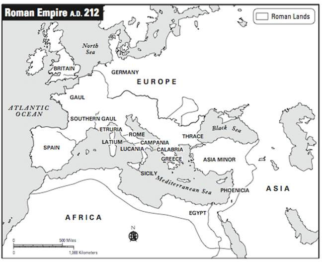 National Empires vs SuperPowers Africa Edition – Ancient Rome Map Worksheet