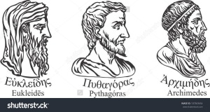 stock-vector-ancient-greek-scientists-mathematicians-and-inventors-euclid-pythagoras-and-archimedes-107363654