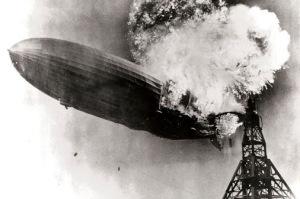 airship explodes