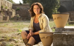 Programme Name: Socrates: Genius of the Ancient World - TX: 12/08/2015 - Episode: Socrates: Genius of the Ancient World. (No. 2/3) - Picture Shows: Bettany Hughes - (C) BBC - Photographer: Tim Knight