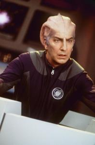 "1999 Alan Rickman stars in the new movie ""Galaxy Quest."" Photo Dreamworks"