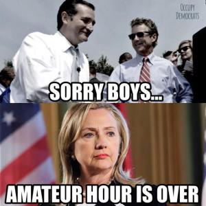 hillary-amateur-hour-over