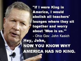 john-kasich teachers lounges